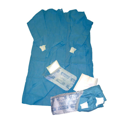 Gown Sterile Disposable 24g SMS Blue