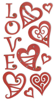 Hearts Large Essential Craft Sticker. (Priced in singles, order in multiples of 6)