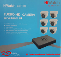 HiWatch Turbo 1080p 8 Channel 6 Camera KIT