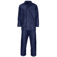 Supertouch Polyester/PVC Rainsuit, Navy