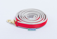Dublin Padded Lead Rein Red/Silv