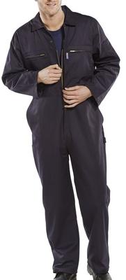 Click Premium Zip & Stud Navy Boilersuit