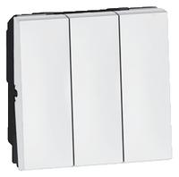 Arteor 20Amp 3 Gang 1 Way 2 Module - White  | LV0501.2400