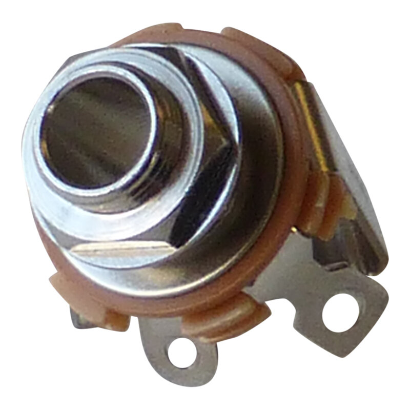 Jack socket stereo chrome