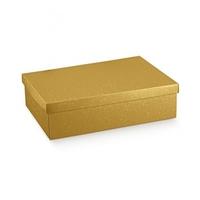 BOX & LID GOLD BUBBLES 380X260X130CM