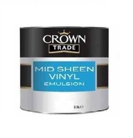 CROWN MID SHEEN EMULSION PAINT MAGNOLIA 2.5LTR