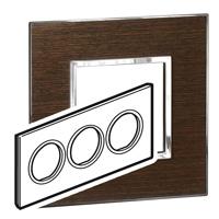 Arteor (British Standard) Plate 6 Module Round Wenge | LV0501.2802