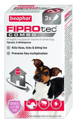 Beaphar FIPROtec COMBO Small Dog Spot On 3 Tube x 1