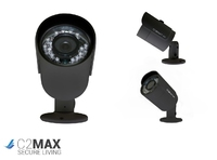 C2 MAX HDCVI 720P Fixed Bullet Two Pack (Black)