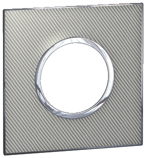 Arteor (British Standard) Plate 2 Module 1 Gang Round Woven Metal   LV0501.2710