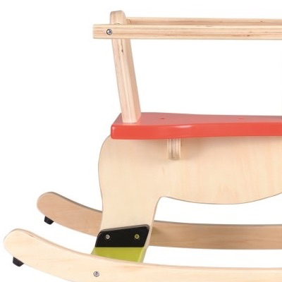 Traditional wooden rocking horse - close-up