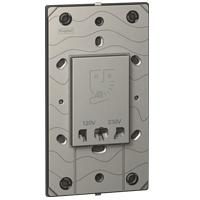 Arteor Shaver Socket 230v/ 120-230v - Magnesium  | LV0501.0051
