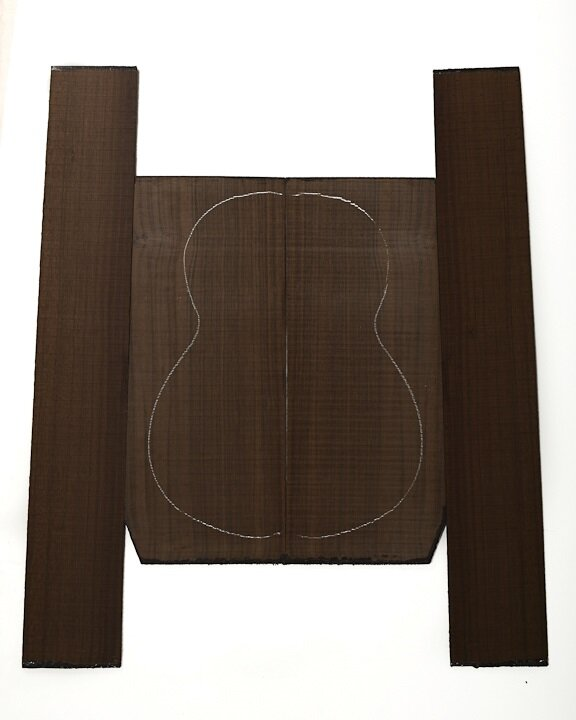Guitar back and sides Oriental Walnut