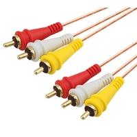 AP-R33-6 | RCA 3X3 CABLE, COPPER, 6FT,1.8M