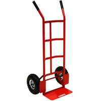 STANDARD SACK TRUCK WITH PUMP WHEELS RED