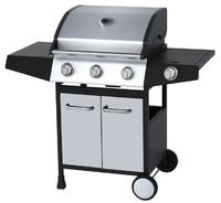 Kentucky Stainless Steel 3 Burner BBQ - Cast Iron Grill