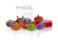 Assorted Spinning Tops. 12/tub