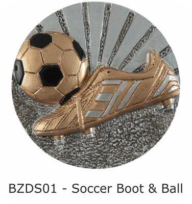 70mm Soccer Ball & Boot Blaze Disc