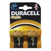 Duracell Plus MN1604 9v Battery 2pk