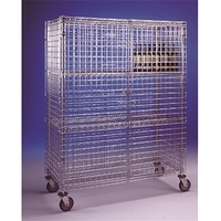 Storage Cage Mobile 4Tier Nylon Coated 900x600x1800mm