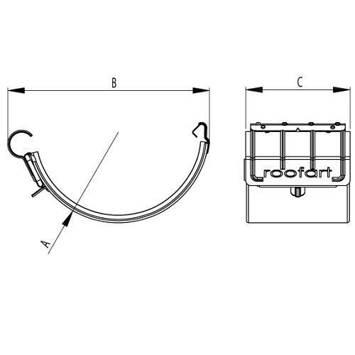 Steel Gutter Joint Drawing