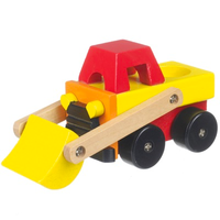 Wooden Toy Digger Truck
