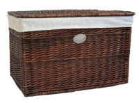 Honey Wicker Trunk  With Lid & Lining