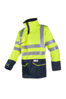 Sioen Nash Hi-vis rain jacket with ARC protection (Cl 1)