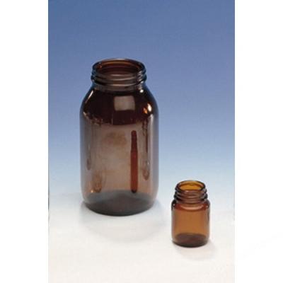 Powder Bottles Amber 4Oz  No Cap, Glass, Pk 6