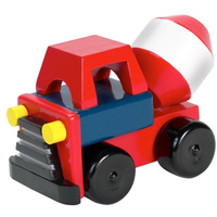 wooden toy - cement mixer truck