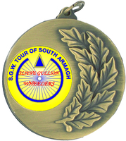 50mm Antique Gold Medallion