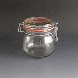 500g Clip top glass storage jar.