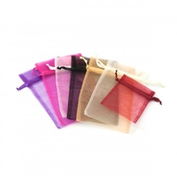 ORGANZA BAG PURPLE 12.5CM X 20 CM PKT 50