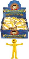 Stretchy Smiley Men. (Sold in displays of 144, min order 1 display)