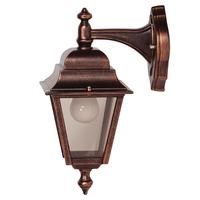 ANSELL Nizza E27 Wall Lantern (Top Arm) Black Copper
