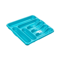 Casa Large Cutlery Tray Teal