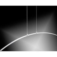 12w LED Curved Chrome Pendant, Warm White Light | LV2102.0005