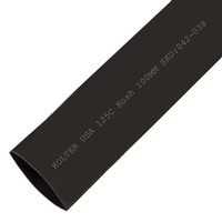 Heat Shrink | Black 100mm Diameter 25M Reel