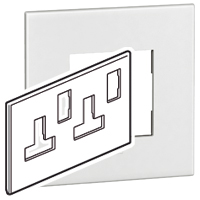 Arteor (British Standard) Plate (Twin Socket 13a 2g) White | LV0501.0106