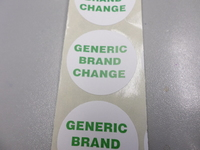 CIRCULAR LABEL GENERIC BRAND CHANGE (ROLL 1000)