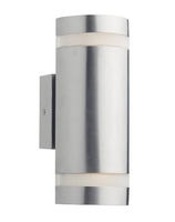 Wessex 2 Light Wall Bracket Cylinder IP44 LED, Stainless Steel    LV1802.0173