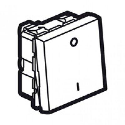 Arteor Double Pole Switch 2 Module - Magnesium  | LV0501.0740