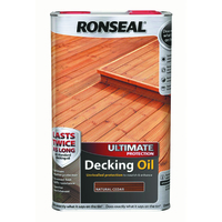 RONSEAL ULTIMATE PROTECTION DECKING OIL NATURAL CEDAR 5 LTR