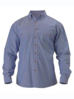 Bisley Chambray Long Sleeve Cotton Shirt
