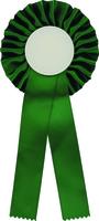 25cm Rosette with D50mm Recess (Green)