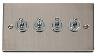 Click Deco Victorian Stainless Steel 1Gang 4 Way Toggle Switch | LV0101.1866