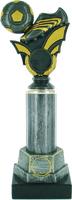 27cm Antique Silver Soccer Trophy | TC10
