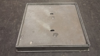 """Recessed Manhole Cover & Frame 18mm x 18x18"""" Double Seal Galvanised CLEARANCE"""