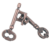 Cast Key. Silver Cast Puzzle Difficulty Level 1. Can be ordered in multiples of 1.