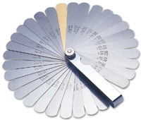 Feeler Gauge Metric & Af - 32 Blades with Brass Gauge